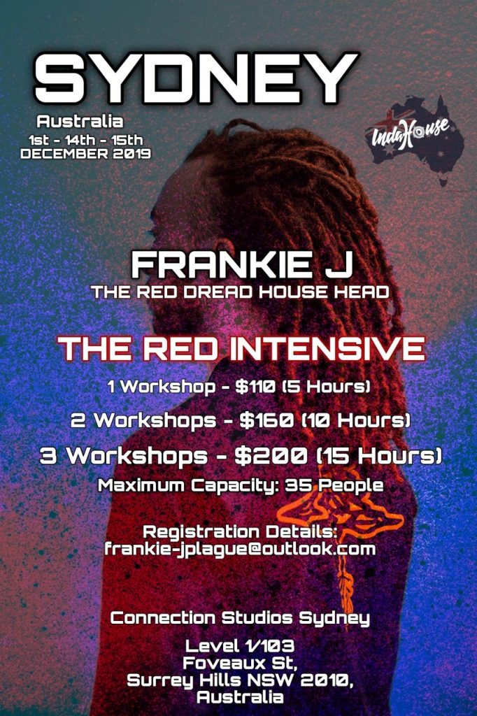 The Red Intensives – Frankie J Sydney Tour